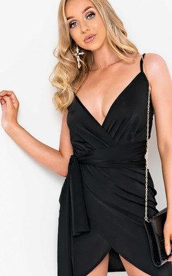 View the Liza Wrap Mini Dress online at iKrush