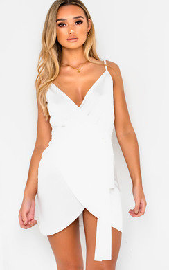 View the Liza Wrap Mini Dress online at iKrush