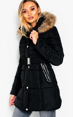 View the Lizzie Padded LongLine Hooded Jacket online at iKrush