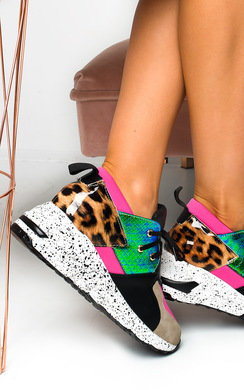 View the  Lois Colour Block Chunky Trainers online at iKrush