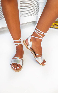 View the Lois Lace Up Sandals online at iKrush