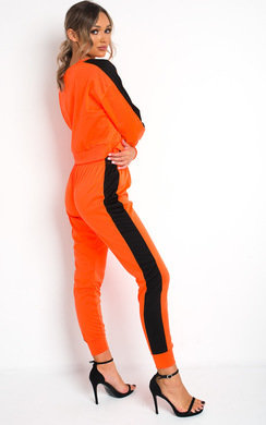 View the Lois Neon Striped Lounge Co-ord online at iKrush