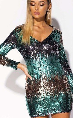 View the Lois Sequin Embellished Mini Dress online at iKrush