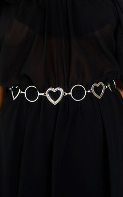 View the Lola Love Heart Chain Belt online at iKrush