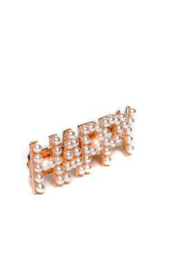 View the Lola Slogan Pearl Detail Hair Clip online at iKrush