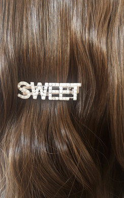 View the Lola Slogan Sweet Pearl Detail Hair Clip online at iKrush