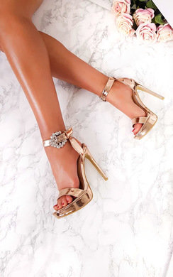 View the Lolita Barely There Platform Heels online at iKrush