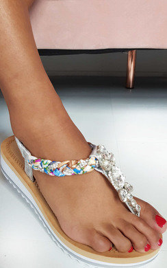 View the Lolita Jewelled T-Bar Sandals online at iKrush