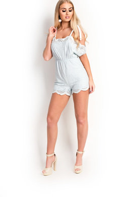 View the Lolita Strappy Off Shoulder Playsuit online at iKrush