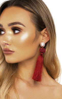 View the Lolita Tassel Drop Earrings  online at iKrush