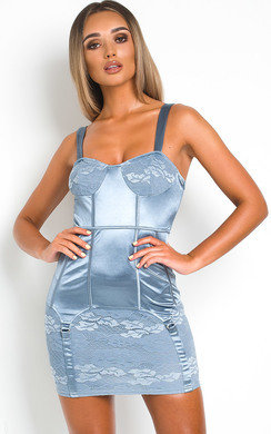 View the Lora Satin Bodycon Dress online at iKrush