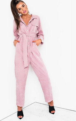 cf7d7784d551 View the Loren Cord Button Up Jumpsuit online at iKrush