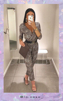 View the Loren Wide Leg Printed Jumpsuit online at iKrush