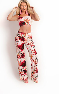 View the Loriana Floral High Waisted Co-ord online at iKrush