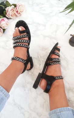 View the Lottie Chained Strappy Sandals online at iKrush