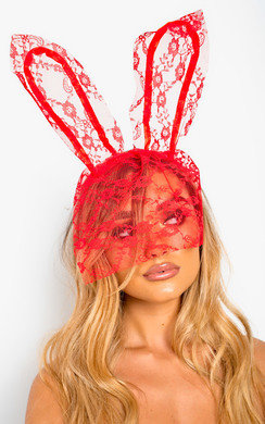 View the Lottie Lace Bunny Ears Headband online at iKrush