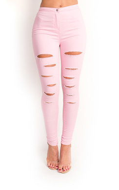 View the Loucia Skinny Mid-Rise Ripped Jeans online at iKrush