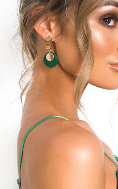 View the Louisa Circle Drop Earrings  online at iKrush