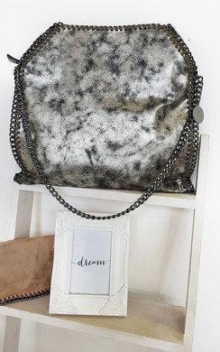 View the Louisa Metallic Handbag online at iKrush