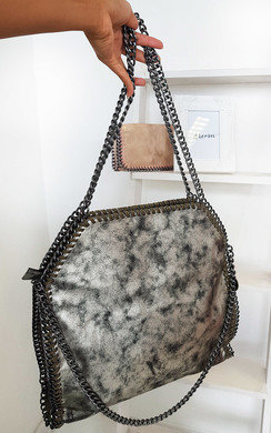 View the Louisa Metallic Handbag online at iKrush