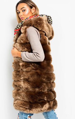 View the Louise Faux Fur Waistcoat online at iKrush