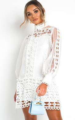 View the Louise Sheer Crochet Dress online at iKrush
