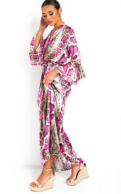 View the Loz Printed Floaty Maxi Dress online at iKrush