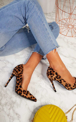 View the Lucia Leopard Pointed Court Heels online at iKrush