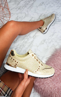 View the Lucie Metallic Shimmer Trainers online at iKrush