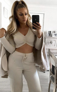 View the Lucie Ribbed Lounge Co-ord online at iKrush