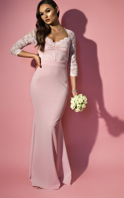View the Luella Lace Long-Sleeved Maxi Dress online at iKrush