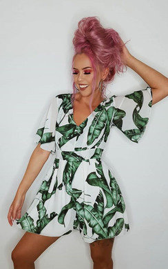 View the Lula Tropical Backless Playsuit online at iKrush