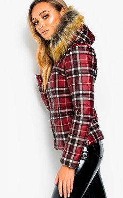 b0bffdbf2 Kerry Faux Fur Lined Long Puffer Jacket in Black | ikrush