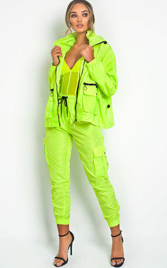 View the Lulu Neon Cargo Trousers  online at iKrush