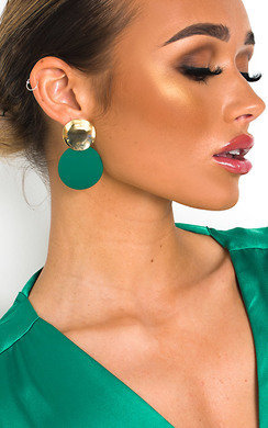 View the Lulu Statement Drop Earrings  online at iKrush