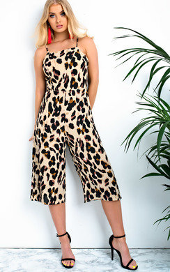 View the Luna Printed Tie Back Jumpsuit online at iKrush