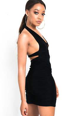 View the Luna Slinky Bodycon Halterneck Dress online at iKrush