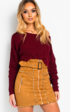 View the Lydia Zip Up Studded Skirt  online at iKrush
