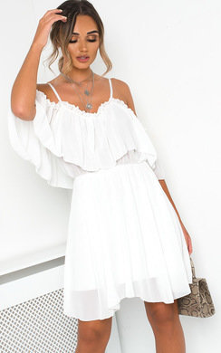 View the Lyla Off Shoulder Frill Dress online at iKrush