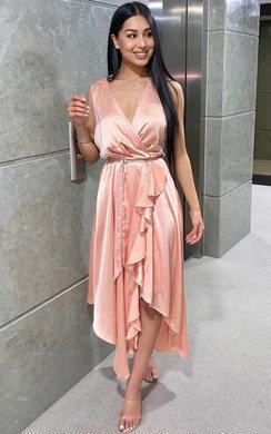 View the Lynn Frill Hem Midi Dress  online at iKrush