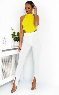View the Lyra High Waist Split Front Trousers online at iKrush