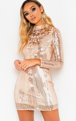 View the Lyra Sequin Embellished Mini Dress online at iKrush