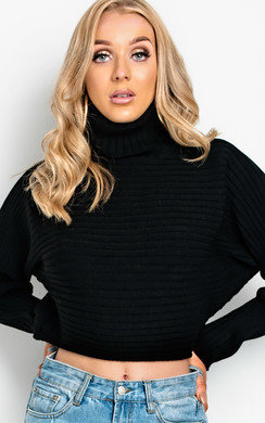 View the Maarah Poloneck Knit Crop Jumper  online at iKrush