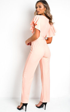 View the Maaria Frill Wide Leg Jumpsuit online at iKrush