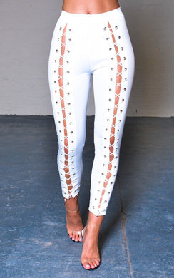 View the Mabel Wetlook Corset Leggings online at iKrush