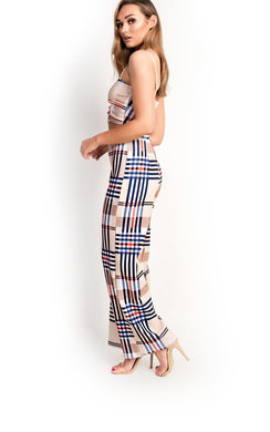View the Madeline Checked Wide Leg Co-ord online at iKrush