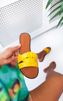 View the Maggie Faux Leather Slip On Sandals online at iKrush