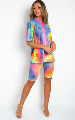 View the Maggie Tie Dye Shorts & Top Co-Ord  online at iKrush
