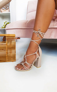 View the Maisie Tie Up Block Heels online at iKrush
