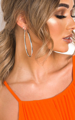 View the Malina Pear Drop Hoop Earrings  online at iKrush
